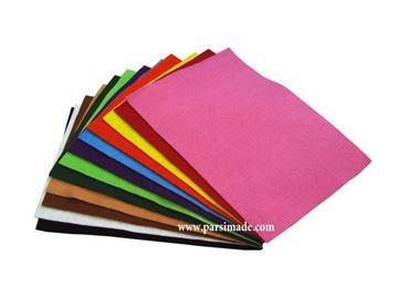 تصویر پارچه نمدی درجه 1: مجموعه مداد رنگی