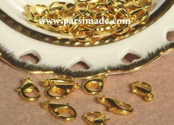 تصویر قفل دستبند طلایی