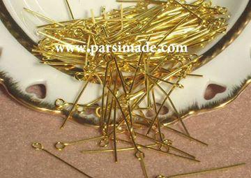 تصویر میخ ته حلقهای طلایی