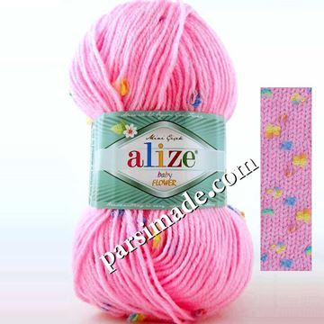 ALiZE Baby Flower  رنگ صورتی پر رنگ