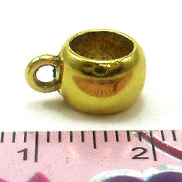 بین کار طلایی فنجانی شکل دارای حلقه آویز