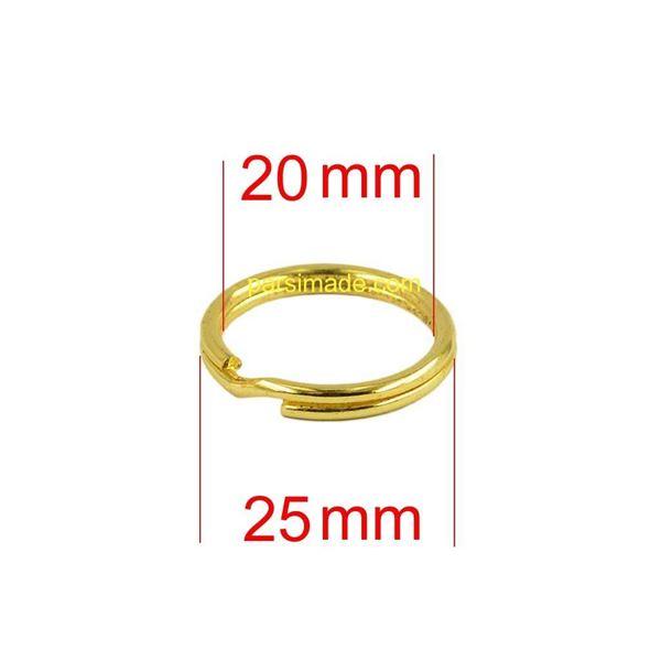حلقه جا کلیدی طلایی