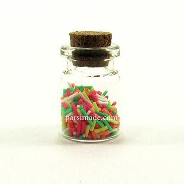 بطری کوچک شیشه ای سایز 3 سانتیمتر