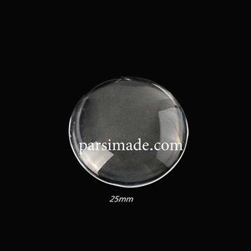 شیشه محدب گردنبند دایرهای قطر 2.5 سانتیمتر