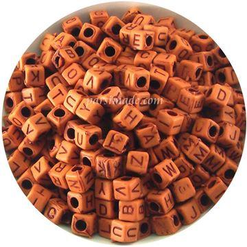 مهره مکعبی حروف انگلیسی رنگ آجری