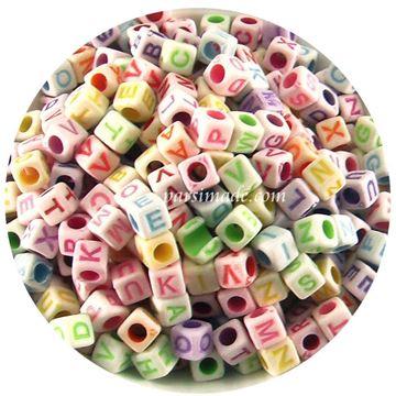 مهره مکعبی رنگارنگ حروف انگلیسی
