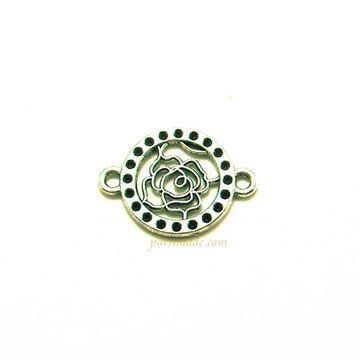 خرج کار نقره ای دستبندی گل رز