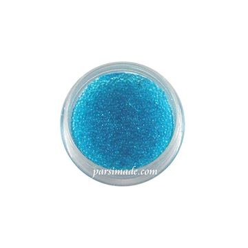 خاویار ناخن رنگ آبی شیشه ای