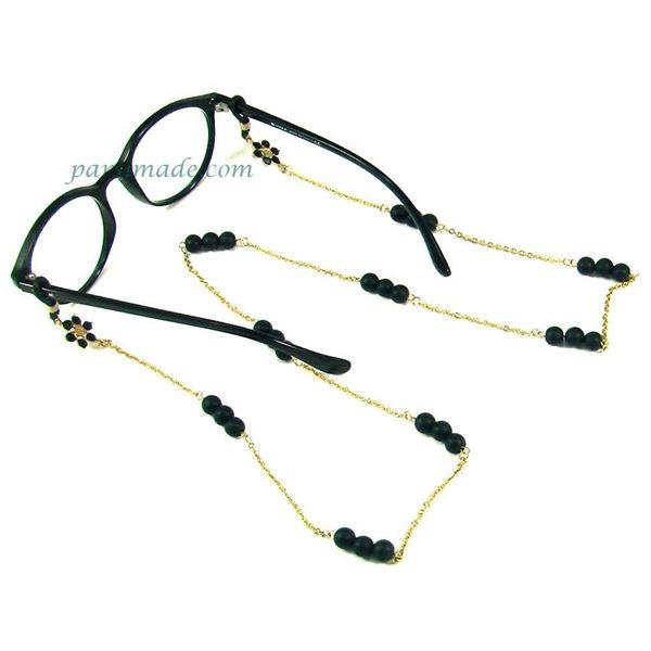 بند عینک با سنگ اونیکس