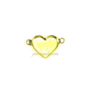 قاب برنجی دستبند طرح قلب کد b8