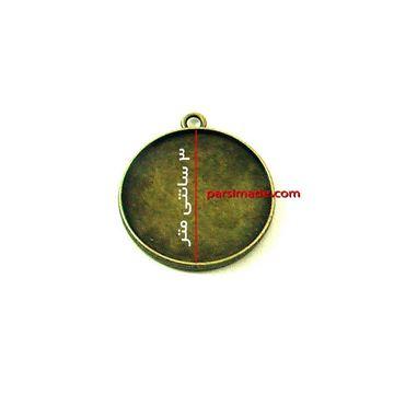 قاب رزینی برنزی گردنبند طرح دایرهای