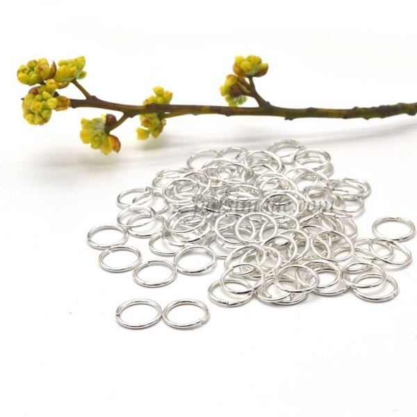 حلقه اتصال نقره ای استیل سایز 5