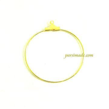 حلقه طلایی گوشواره 35 میلیمتر