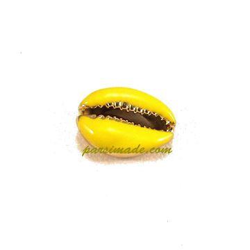صدف دستبندی رنگ لاکی زرد