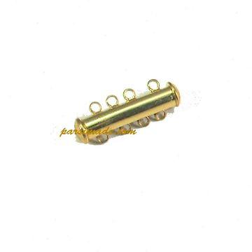 قفل آهنربایی لوله ای طلایی ۴ حلقه