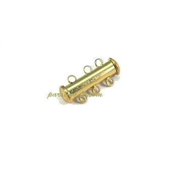 قفل آهنربایی لوله ای طلایی ۳ حلقه